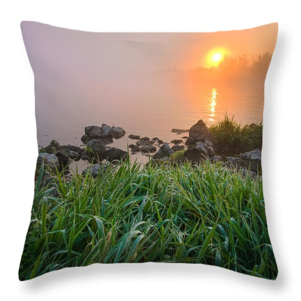 Autumn Morning II Throw Pillow by Davorin Mance