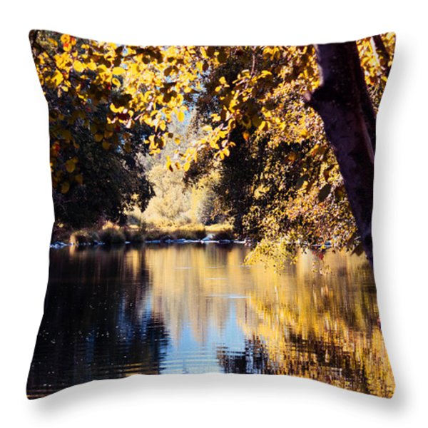 Autumn On The Applegate Throw Pillow by Melanie Lankford Photography