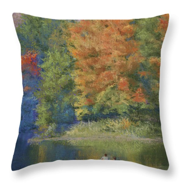 Autumn on the Lake Throw Pillow by Marna Edwards Flavell