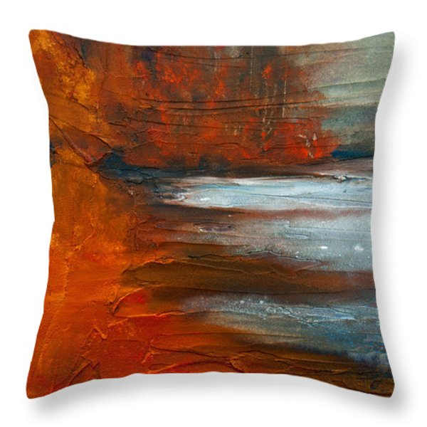Autumn On The Sound Throw Pillow by Jani Freimann