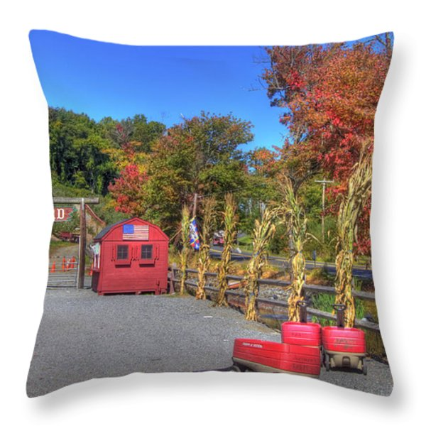 Autumn Orchard Throw Pillow by Joann Vitali