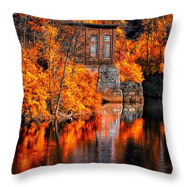 Autumn Reflections  Throw Pillow by Bob Orsillo