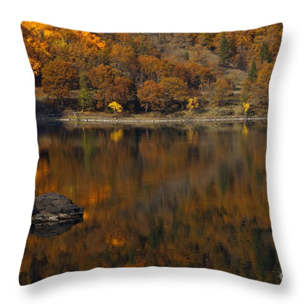 Autumn Reflections Throw Pillow by Mike  Dawson