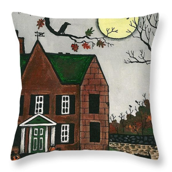 Autumn Scotties Throw Pillow by Margaryta Yermolayeva