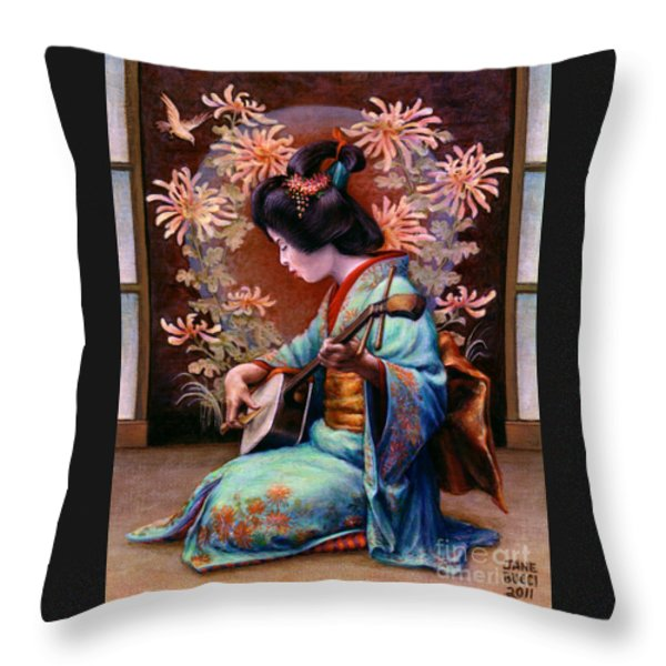 Autumn Song Throw Pillow by Jane Bucci