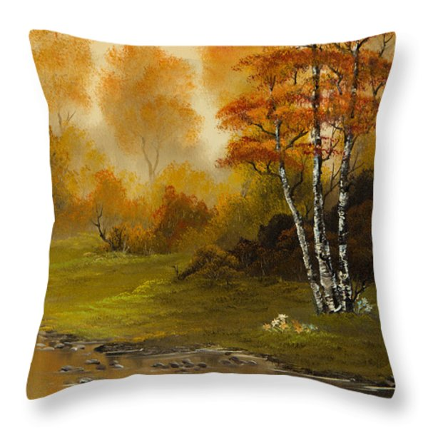 Autumn Splendor Throw Pillow by C Steele