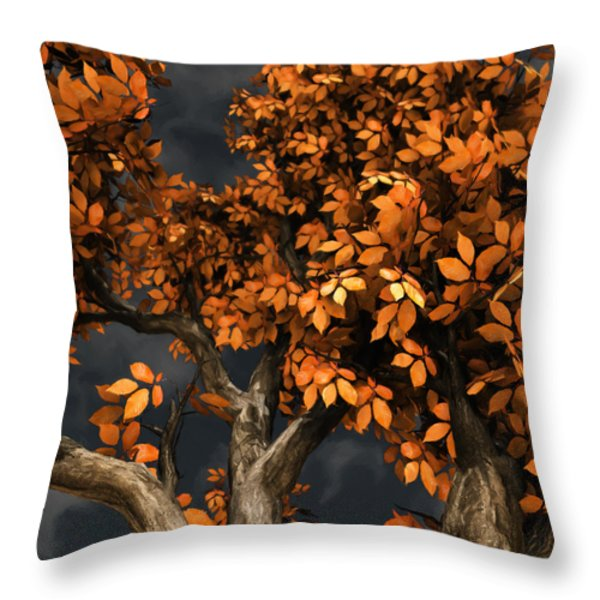 Autumn Storm Throw Pillow by Cynthia Decker