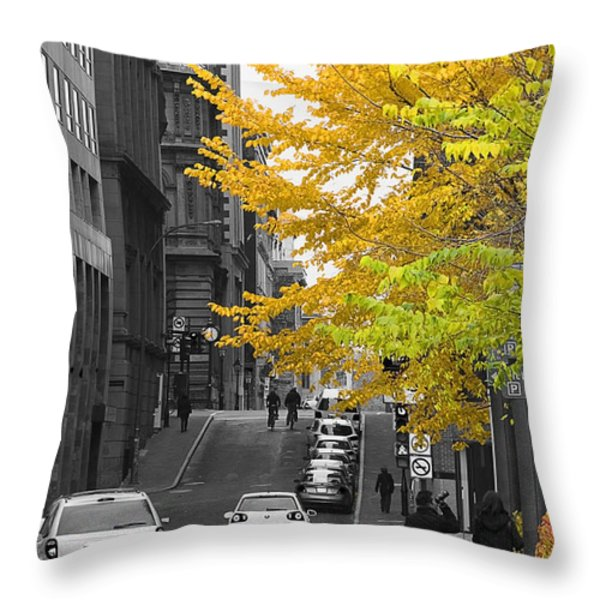 Autumn Stroll Throw Pillow by Nicola Nobile