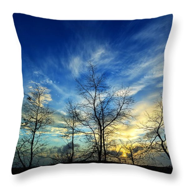 Autumn Sunset Throw Pillow by Bill Caldwell -        ABeautifulSky Photography