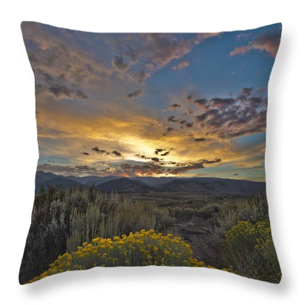 Autumn Sunset Throw Pillow by Dianne Phelps