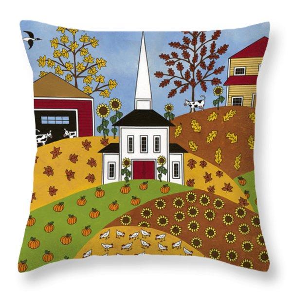 Autumn Tapestry Throw Pillow by Medana Gabbard