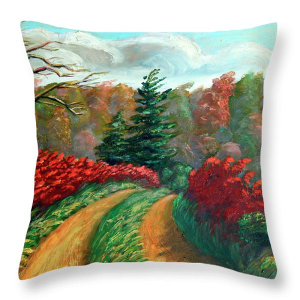 Autumn Trail Throw Pillow by Otto Werner
