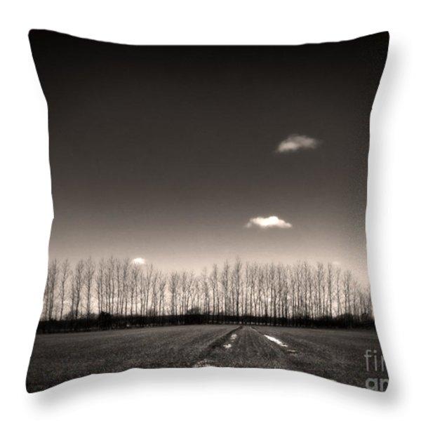 autumn trees Throw Pillow by Stylianos Kleanthous