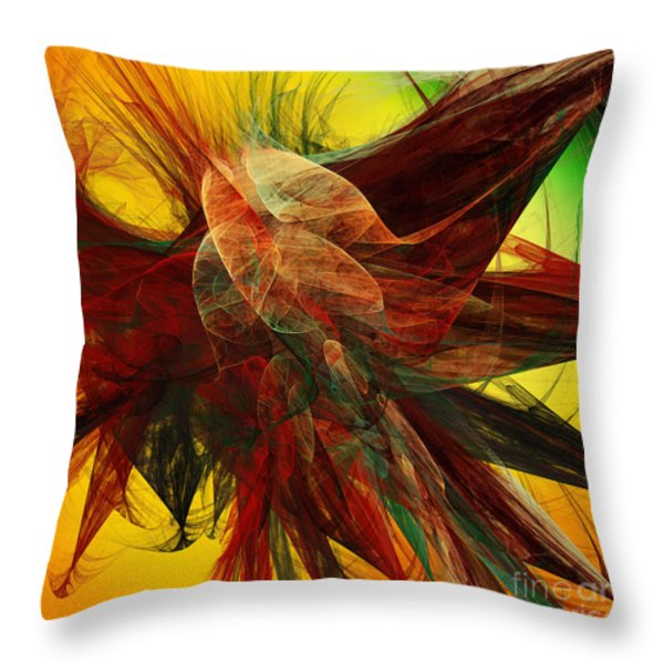 Autumn Wings Throw Pillow by Andee Design