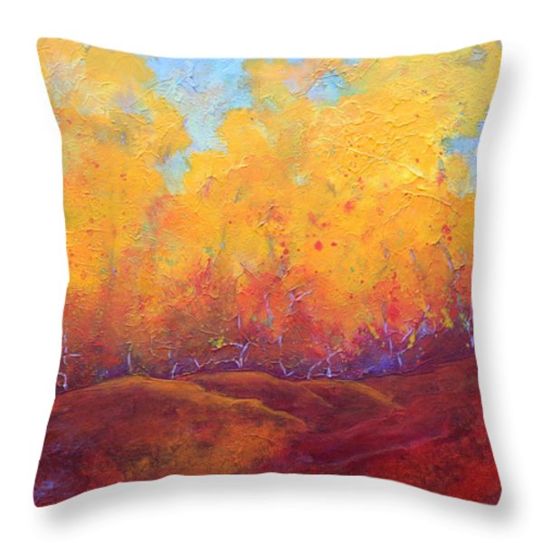 Autumn's Blaze Throw Pillow by Nancy Jolley