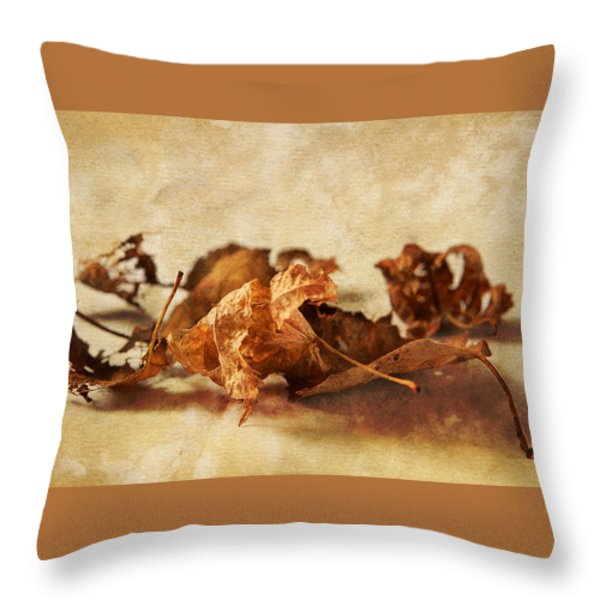Autumn's Leavings Throw Pillow by Caitlyn  Grasso
