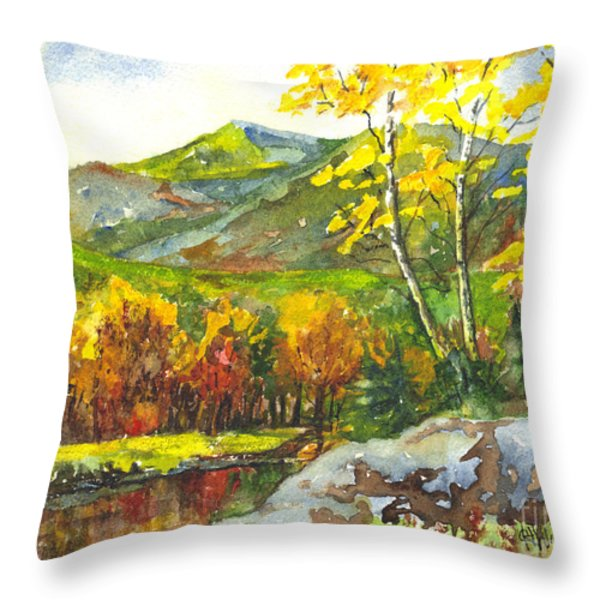 Autumn's Showpiece Throw Pillow by Carol Wisniewski