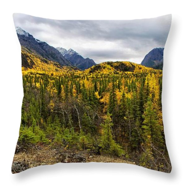 Autumn's Vista Throw Pillow by Ed Boudreau