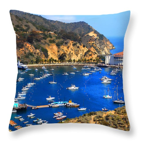Avalon Harbor Throw Pillow by Cheryl Young