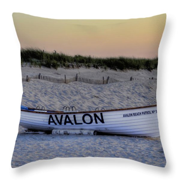 Avalon Lifeboat Throw Pillow by Bill Cannon