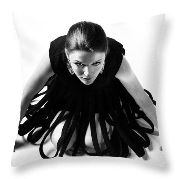 Avant Garde Fashion Throw Pillow by Diane Diederich