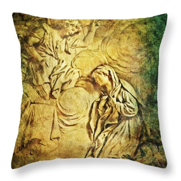 Ave Maria...Gratia Plena Throw Pillow by Lianne Schneider