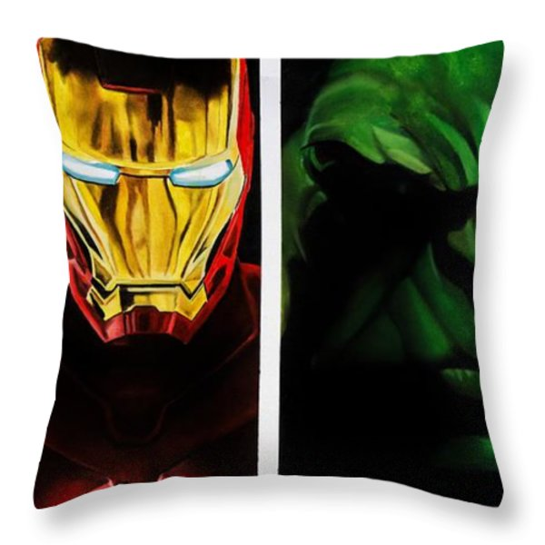 Avengers Throw Pillow by Brian Broadway
