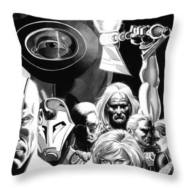 Avengers Ultimates Throw Pillow by Ken Branch