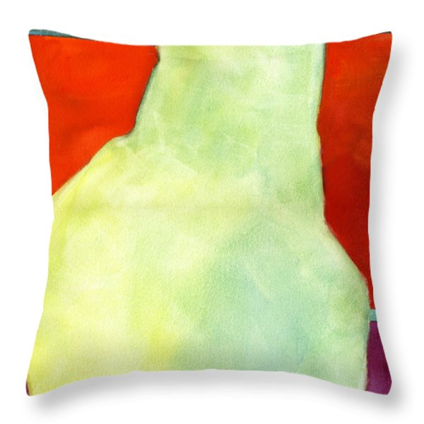 Avery Style Pear Art Throw Pillow by Blenda Studio