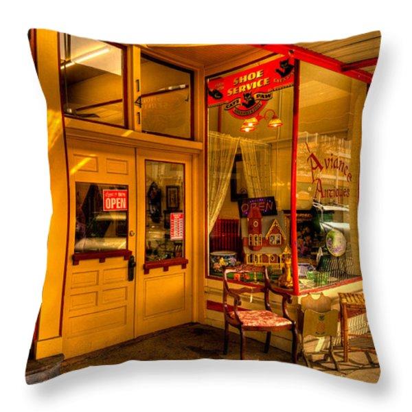 Aviance Antiques Prescott Arizona Throw Pillow by David Patterson