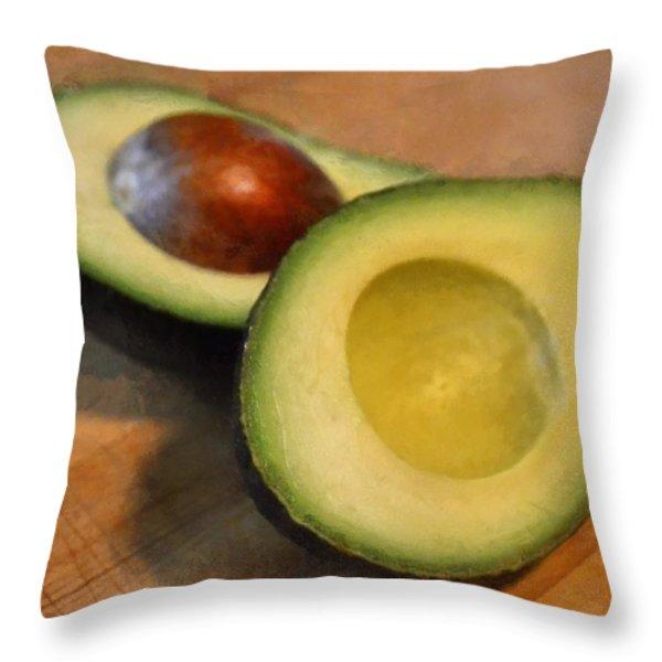 Avocado Throw Pillow by Michelle Calkins