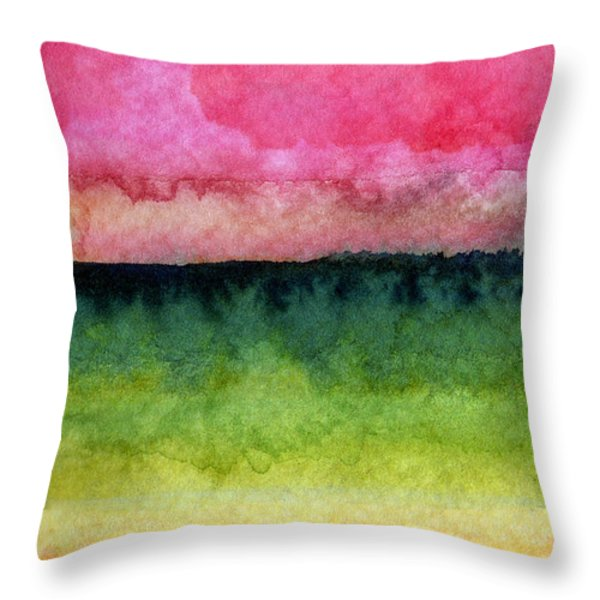 Awakened Throw Pillow by Linda Woods