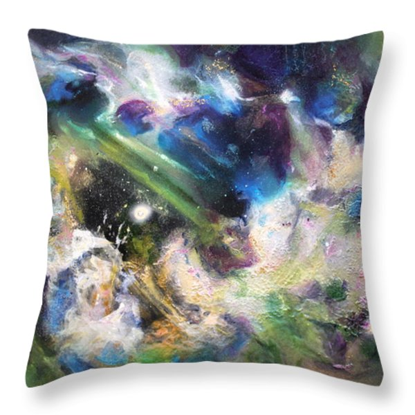 Awakening Throw Pillow by Kathleen Fowler