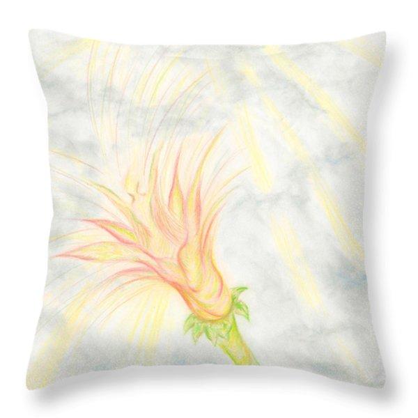Awakening Throw Pillow by Kim Sy Ok