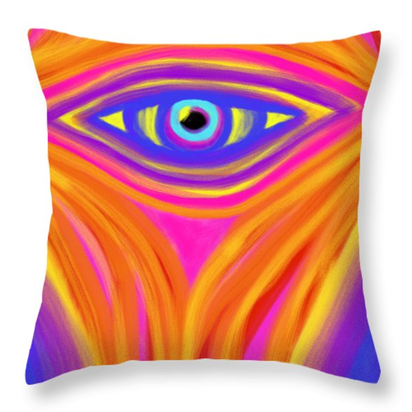 Awakening the Desert Eye Throw Pillow by Daina White