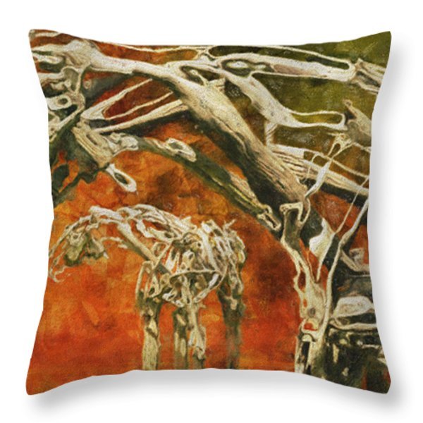 Aware Throw Pillow by Jack Zulli