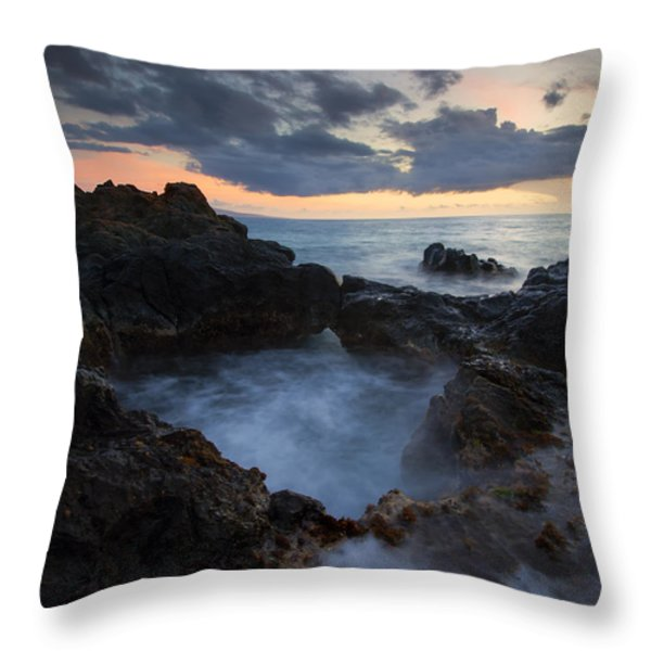 Awash Throw Pillow by Mike  Dawson