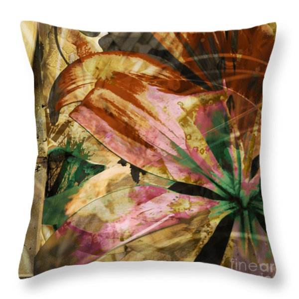 Awed II Throw Pillow by Yanni Theodorou