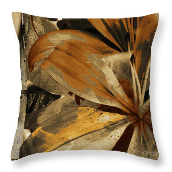 Awed IV Throw Pillow by Yanni Theodorou