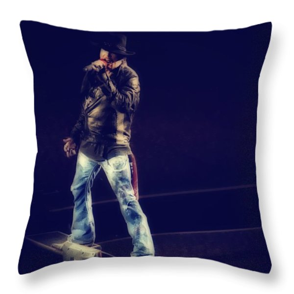 Axl Rose Throw Pillow by Eti Reid