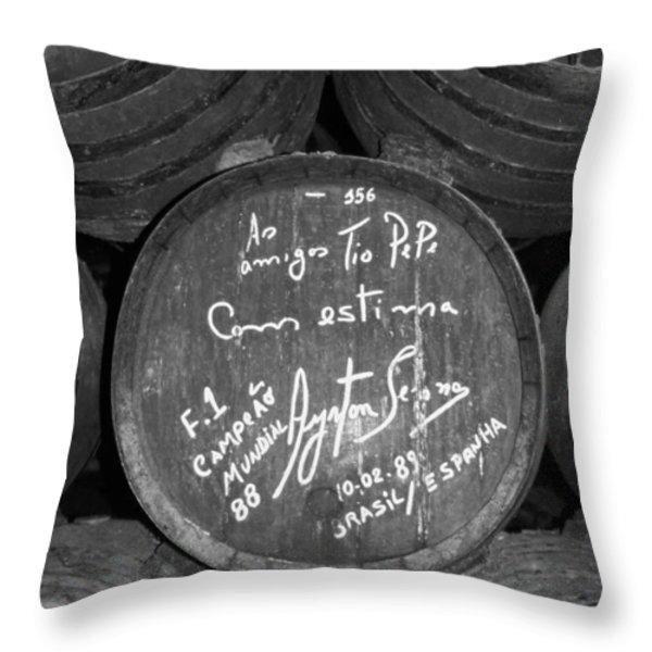 Ayrton Senna - 1988 Jerez Throw Pillow by Juergen Weiss