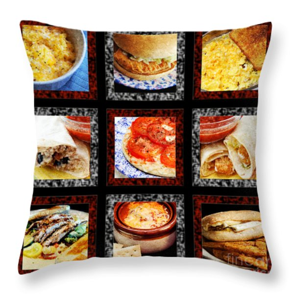 B L D Dining 1 Tic Tac Toe Throw Pillow by Andee Design