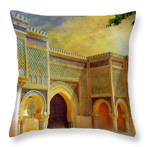 Bab Mansur Throw Pillow by Catf