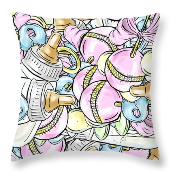 Baby On The Way Throw Pillow by Trish Tritz