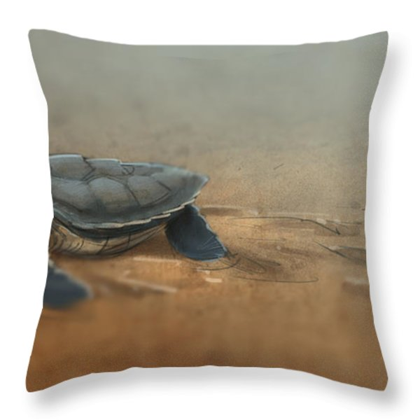 Baby Turtle Throw Pillow by Aaron Blaise