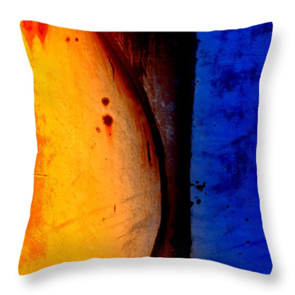 Back Against the Wall Throw Pillow by Fran Riley