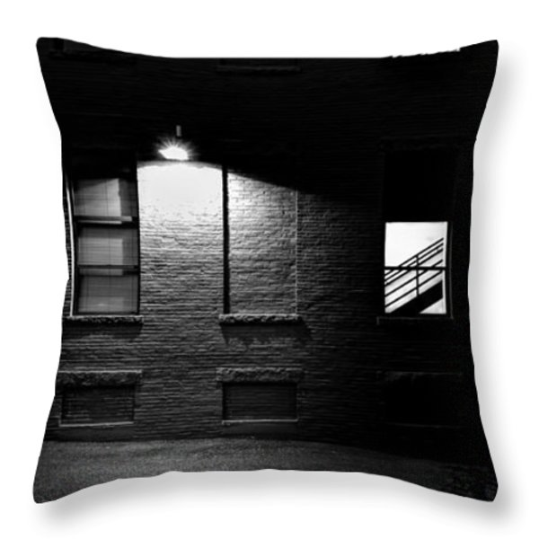 Back Alley 330AM Throw Pillow by Bob Orsillo