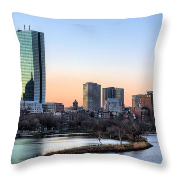 Back Bay Sunrise Throw Pillow by JC Findley
