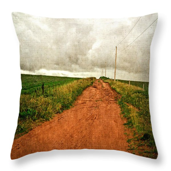 Back Country Road PEI Throw Pillow by Edward Fielding