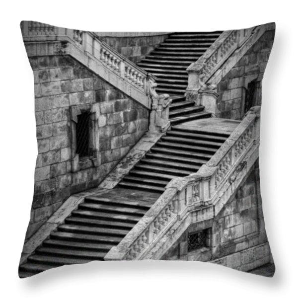 Back Entrance Throw Pillow by Joan Carroll